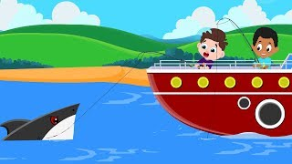 Flying Shark Chase Rescued by Red Super Car | Cartoon Songs & Rhymes