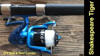 shakespeare tiger 7' spinning rod and reel combo