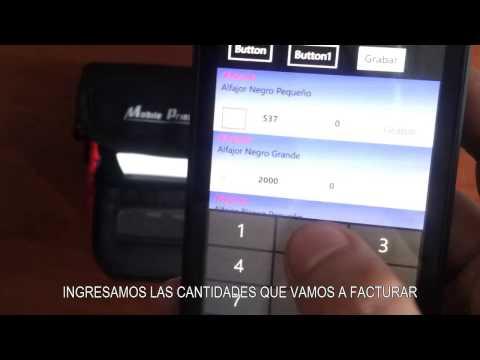 Windows Phone 8 + IIS(Internet Information Services) + Mini Printer Bluetooth