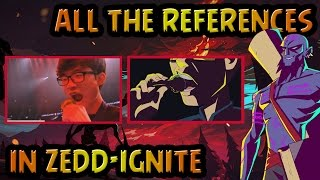 """ALL THE REFERENCES AND EASTER EGGS IN """"ZEDD - IGNITE"""""""