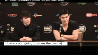 2011 MAMA Winners interview_Super Junior