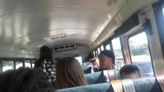 Kids sing happy birthday to bus driver