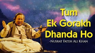 Download Lagu Tum Ek Gorakh Dhanda Ho with Lyrics - Nusrat Fateh Ali Khan - Popular Qawwali 2018| Sajda</b> Mp3