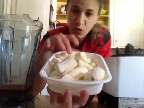 Vanilla Cinnamon Banana MILKSHAKE- Raw Food Recipe