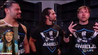 WWE Raw 12/4/17  The Shield Backstage