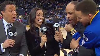 Stephen Curry Scares the Crap Out of Dell Curry