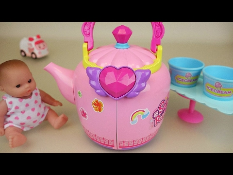 Baby Doll pot house toys and Ambulance clinic play