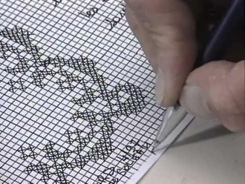 R aliser des points de croix couture broderie youtube - Apprendre le point de croix ...