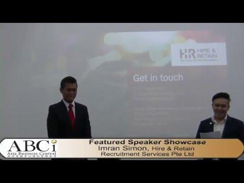 ABCI Featured Speaker: Imran Simon Hire & Retain Recruitment Services
