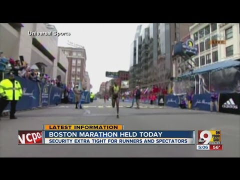 Boston Marathon held today with extra high security