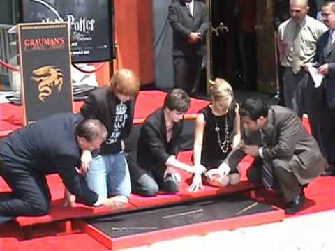 Dan Radcliffe, Emma Watson, & Rupert Grint Hand, Foot, and Wand Ceremony