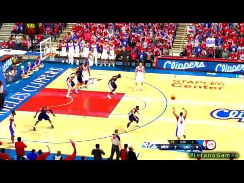 NBA Playoffs 2013 - Los Angeles Clippers vs Memphis Grizzlies - Game 2 - 1st Half - NBA Live 13 - HD