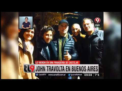 John Travolta fue visto en una panadería de Buenos Aires