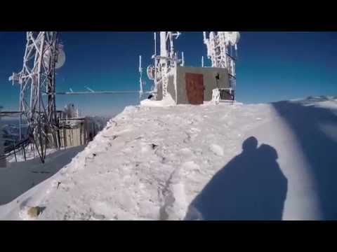 Wardner Mt, Silver Mt ski hill. Doing some work on the communications site/tower out of Kellogg Idaho, nice day about 5 degrees.