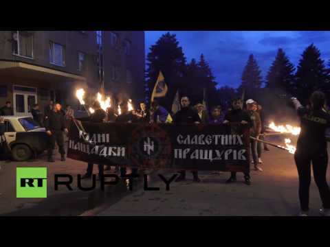 Ukraine: Azov activists protest Donbass self-rule referendum two years on