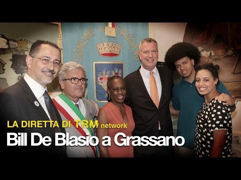#WelcomeHomeBill - Diretta TV, Bill De Blasio a Grassano