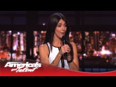 Angela Hoover - Celebrity Impressionist Mocks Christina Aguilera & Heidi Klum - America's Got Talent