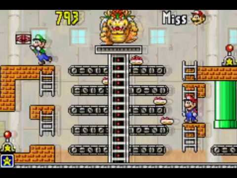 Game & Watch Gallery 4 (GBA) - Modern Mario Bros Super Hard - Over 1000 points !