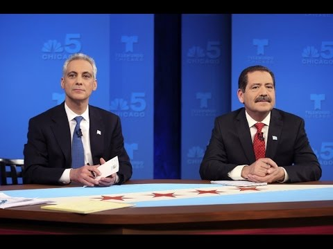 Chicago Mayoral Debate, March 16, 2015 Mayor Rahm Emanuel vs Jesus Garcia