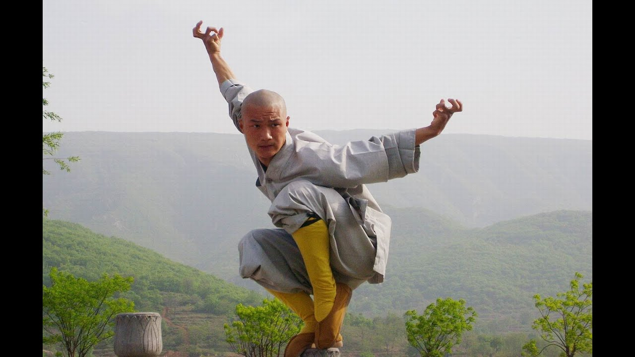Shaolin monks fighting