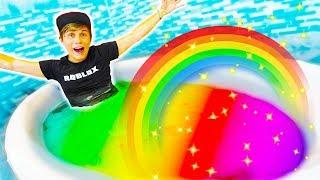 I TURNED MY BATHTUB INTO A RAINBOW