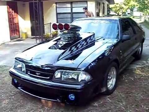 88 Mustang Pro Street 671 Blower Youtube