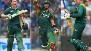 Quinton de Kock, Faf du Plessis and AB de Villiers played a greate innings