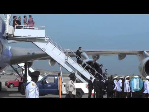 Le President chinois MA YING   JEOU en Haïti