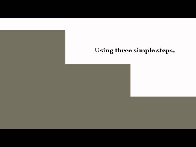 Three Simple Steps Book Trailer