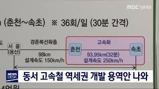 동서고속화철도 역세권 개발 구상 발표