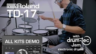 Roland TD-17 all kits demo with drum-tec Jam electronic drums