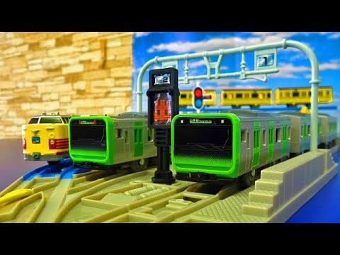 Plarail 6 types of trains in Japan & vehicle base video for Children