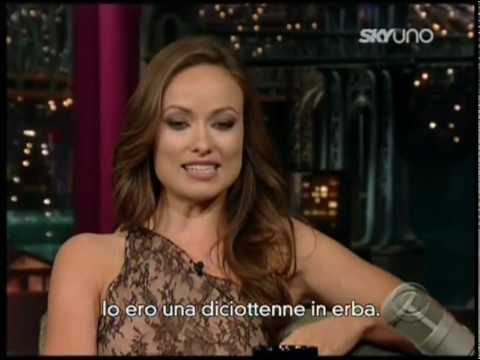 Olivia Wilde al David Letterman Show (sottotitolato in italiano)