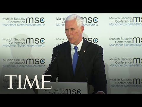 Mike Pence Receives Awkward Silence In Munich After Offering Greetings From President Trump  TIME