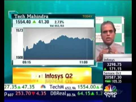 """""""Infosys once again emerging as a stable reliable stock"""" Dilip Bhat in an interview with CNBC-TV18"""