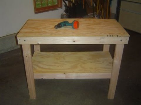 Build a garage workbench video youtube for How to make a small garage