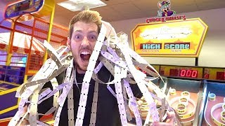 BEATING ALL THE HIGH SCORES AT CHUCK E CHEESE!