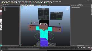 Autodesk Maya 2014 - Minecraft Steve Rig V1.0 ( Free Download )
