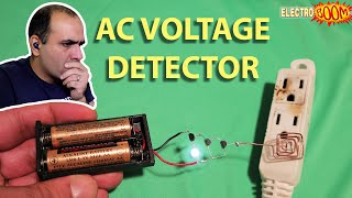 WOW! ⚡AC VOLTAGE⚡ Detector Circuit?! Can It Be?!