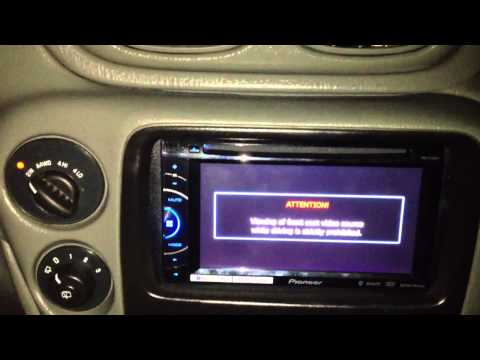 Pioneer AVH-X2500BT installed on a 04 Chevy Trailblazer