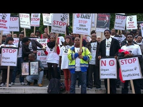 Anti Slavery Day: March calling for urgent action against the torture & kidnapping in Egypt's Sinai