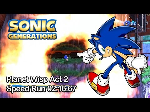 Sonic Generations - Planet Wisp Act 2 - Speed Run 2:16.67