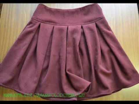 Как сшить юбку на кокетке с юбкой полу