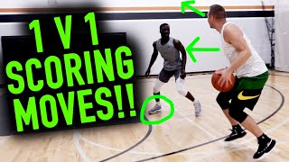 Stupid Simple 1 v 1 Moves that Work EVERY time | Basketball Scoring Tips