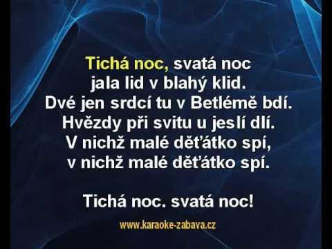 Tichá Noc - Koleda Karaoke Tip