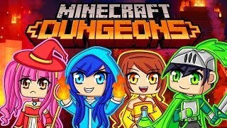 Our first time playing Minecraft Dungeons!