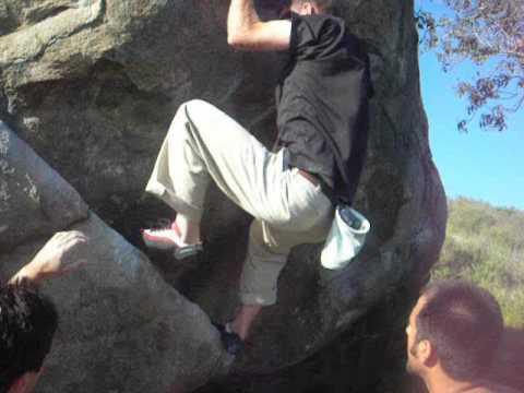 Santee Boulders - Twenty Point Problem (with traverse start), 5.11c