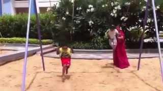 Rohan and Maanya on swing