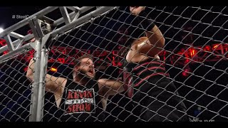 Kevin Owens vs Roman Reigns Steel Cage Match Highlights Raw 09/19/2016 HD
