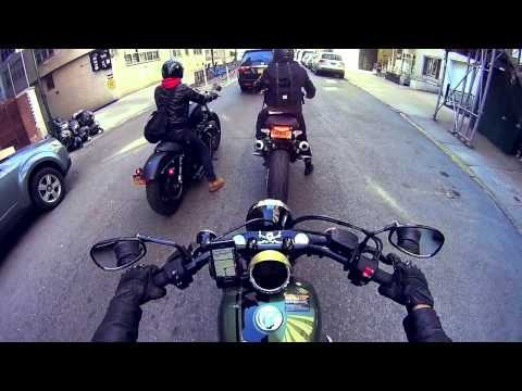 NYC in Yamaha bolt . Harley Davidson Iron 883 and Ducati Monster ..